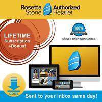 Rosetta Stone® Learn Language Course LIFETIME HOMESCHOOL Software Code Headset