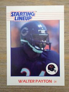 Walter Payton Unreleased 1988 STARTING LINEUP Card SUPER RARE Bears NFL NICE!!!