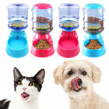 Automatic Dog Feeder Pet Cat Water Bottle Dispenser Travel Food Dish Bowl 3.5L
