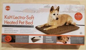 "K&H Pet Products Lectro-Soft Heated Indoor/Outdoor Bed Med Tan 19"" x 24"" x 1.5"""