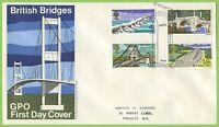 G.B. 1968 Bridges set on GPO First Day Cover, Bridge Kent cancel