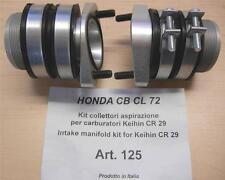 Cappellini Moto #125 Honda CB CL 72 intake manifold kit Keihin CR29 carburetors