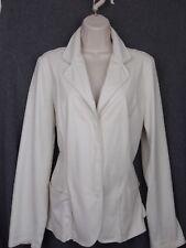 Dismero Fall winter-white Italian jacket-blazer leather look, soft, snaps,  8