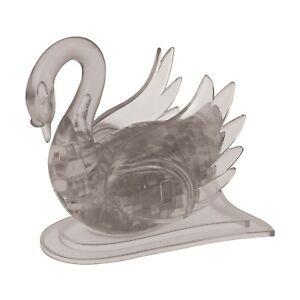 3D Crystal Puzzle - Swan (Black), 43 Pcs (10C)