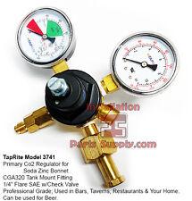 Taprite 3741 Dual Gauge Beer Wine Soda Tank Mount Primary Co2 Pressure Regulator