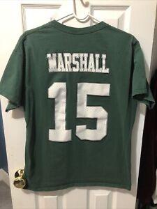 Brandon Marshall New York Jets Football Green Majestic Shirt Size Large
