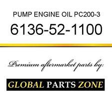6136-52-1100 - PUMP, ENGINE OIL PC200-3/5 6136521100 fits KOMATSU