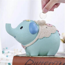 Cute Saving Pot Piggy Bank Kids Elephant Coin Money Box Boy Girl Gift Home Decor