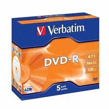 Verbatim 43519 DVD -R Matt Silver 4.7GB 16X - 5 Pack - clear Jewel Case