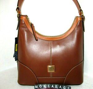 Dooney & Bourke Natural Brown Wexford Leather Hobo Shoulder Handbag NWT $248