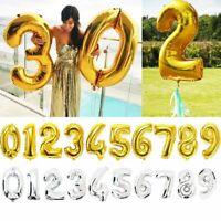 des fournitures gonflable nombre ballon en aluminium l'hélium or / argent