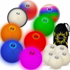 CUIR Super Durable Pro Jonglerie Balle set 7 options de couleur 5x Balles de Jonglage Sac de transport! Rouge