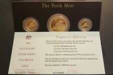 1996 Australia Lunar Series 1 Mouse Gold Proof Set