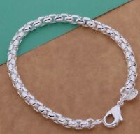 925 Sterling Silver Bracelet Bangle Women Men Jewelry New Fashion Gift
