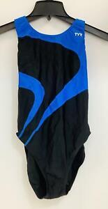 TYR Alliance T-Splice Maxfit One Piece Swimsuit,Black/Blue, US Size 14/16, EU 38
