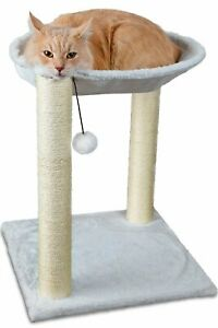 Cat Tree House Scratchie Hammock Pet Bed Resting Post Tower Multi 2 Level White