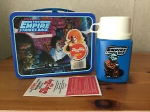 VINTAGE THE EMPIRE STRIKES BACK LUNCHBOX AND THERMOS - UNUSED WITH PAPERS!