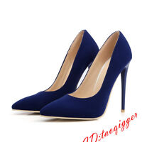 All US SIZE Women's Faux Suede Pointy Toe Dress Shoes Stiletto High Heels Pumps