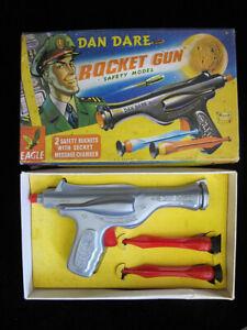 Vintage UK 50's Dan Dare Rocket Gun Space Ray Gun Pistol With Original Box