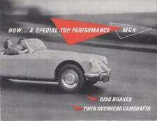 MG MGA TWIN CAM ORIGINAL MG FACTORY SALES BROCHURE  PUB N0 H59.95