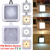 6 LED PIR Motion Sensor LED Cabinet Light Square Night Lamp For Cupboard Kitchen
