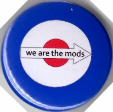 WE ARE THE MODS Pin(Button) Badge TARGET MOD VESPA LAMBRETTA SCOOTER SCOOTERING