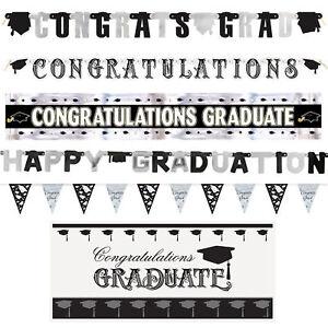 Graduation Banners & Bunting - Foil, PVC, Card - Various Design to Choose