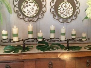 Southern Living FILIGREE Iron CANDLESTAND Centerpiece #40979
