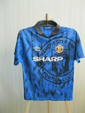 BOYS Manchester United 1992/1993 away Size L shirt jersey maillotfootball soccer