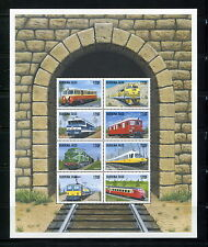 Burkina Faso 1998  #1121-4  trains  railroads   sheets  MNH  F508