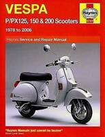 Haynes 0707 Manual for Vespa P/PX125, 150 & 200 Scooters 1978-2006