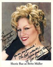 SHERIE RAE PARKER as Bette Midler Signed Photo LEGENDS IN CONCERT Las Vegas NV