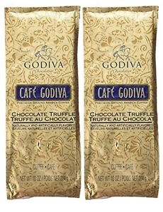 Cafe Godiva Chocolate Truffle Coffee 10 oz 2 pack new