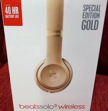 **STILL IN FACTORY PLASTIC - LIMITED EDITION GOLD BEATS SOLO 3 WIRELESS **