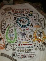 Vintage to Now Jewelry Lot Estate 925 Rhinestone 7 peices of 38 year Collection