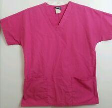 Cherokee Scrubs Medical Uniform Top Pink XS