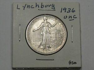BU/UNC 1936 Lynchburg US Commemorative Half Dollar.  #49