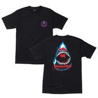 Santa Cruz Speed Wheels Shark T Shirt Black Skateboard New Size M L XL XXL 2XL