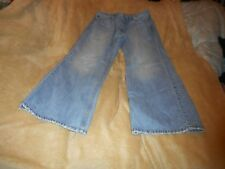AMERICAN EAGLE BOOTCUT LIGHT BLUE JEANS WITH STITCHING W 33 INSEAM 28 INCHES
