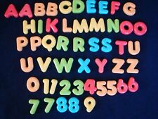 50 Chunky Magnetic Plastic Alphabet Letters & Numbers