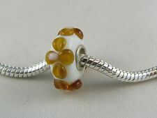 SINGLE SILVER CORE MURANO GLASS BEAD FOR EURO STYLE CHARM BRACELETS (MB 149)