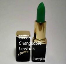 L'Paige Lipstick Green Changeable Turns To Shades of Pink Long Lasting Aloe Vera