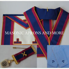 Masonic Regalia Mark Provincial Undress Apron(Leather),Collar,Jewel&Gloves Set