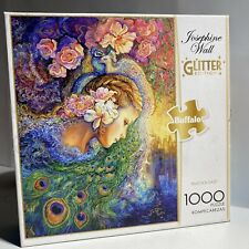 "Josephine Wall Glitter Collection 'Peacock Daze' 1000 Piece Puzzle 26.75""x19.75"""