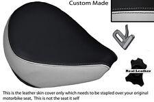 BLACK & LIGHT GREY CUSTOM FITS YAMAHA XVS 650 CLASSIC V STAR FRONT SEAT COVER