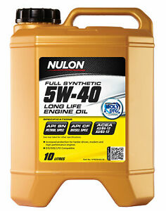 Nulon Full Synthetic Long Life Engine Oil 5W-40 10L SYN5W40-10 fits Daihatsu ...