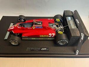 GP Replicas Ferrari 126 C2 #27 Gilles Villeneuve Zolder 1982 1/12 GP12-10G