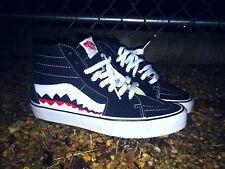 97aff500a7 Vans Custom Old Skool Skate High Vans Bape Shark Teeth Custom Shoes