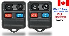 2x New Replacement Keyless  Remote Key Fob For Ford Lincoln Mercury - Shell Only