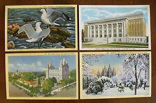 Vintage Set of 4 Postcards - (3) Salt Lake City Area Mormon Temple (Lot 4)